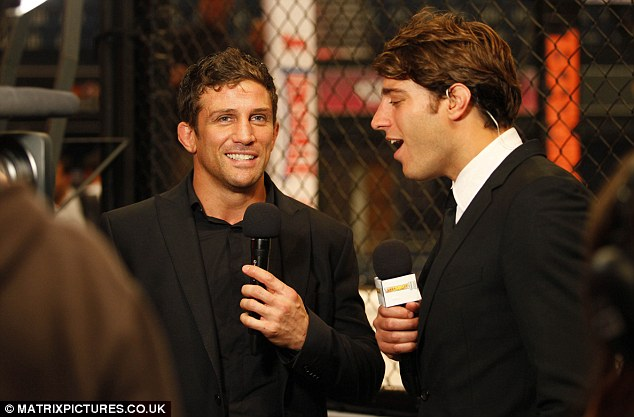 Back in the ring: Alex was pictured on Tuesday announcing his return to MMA cage fighting