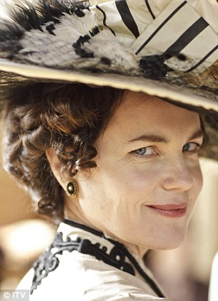 Screen stars: Joanne as Anna Bates and Elizabeth as Lady Cora in ITV period drama Downton Abbey