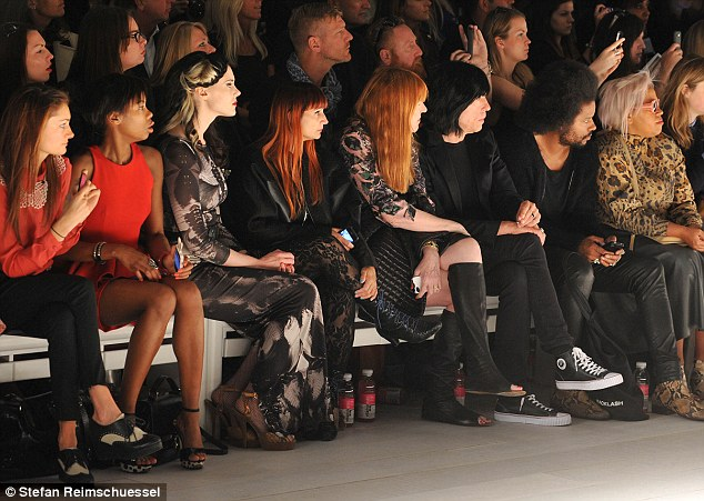 Kate Nash, who has been making a lot of London Fashion Week appearances, took her seat on the front row