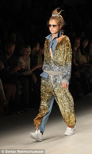 His trademark sequins were, of course, in abundance in the catwalk show which represents his love of Hollywood