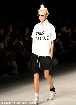 French music boomed through the speakers as the models strutted in mis-matched shorts