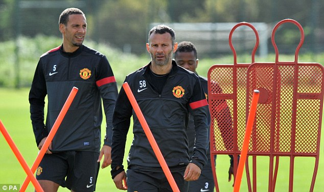 The old guard: Ryan Giggs (right) does not remember fondly his trips to Galatasaray