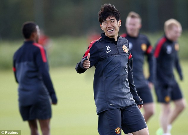 Good to go: Shinji Kagawa should be involved in the match against Galatasaray