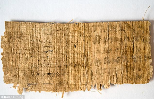 Ancient: The back side, or verso, of the papyrus is so badly damaged that only a few key words - 'my mother' and 'three' - are decipherable