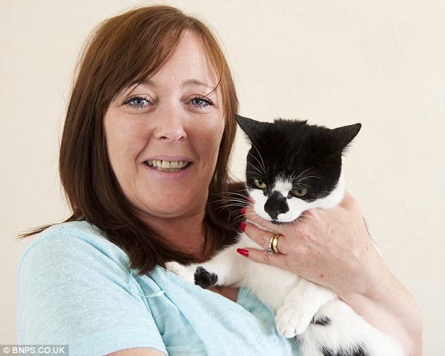 Lesley Newman said the naughty pet often brings other people's belongings to her in bed believing they are prey