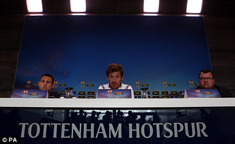 Shake up: AVB is likely to make a number of changes for the Lazio clash