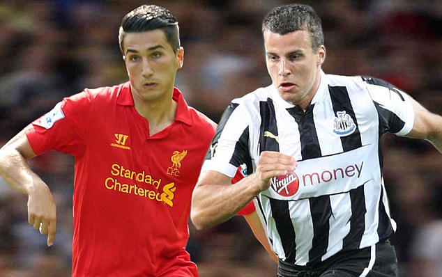 European assault: Liverpool (left) and Newcastle open up their Europa League group stage campaigns