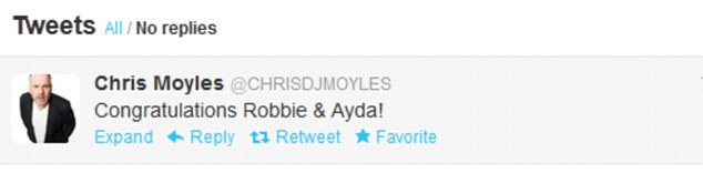 What a Superstar! Chris Moyles, who kicks off his role in Jesus Christ Superstar on Friday, tweeted his congratulations