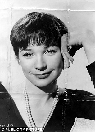 Beauty: MacLaine, pictured in 1960, says her brother Warren Beatty doesn't believe in spaceships