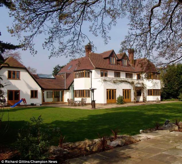 House: The luxury £3.2 million mansion the pair used to share in Kingston Upon Thames (pictured). Mrs Kavanagh was awarded two thirds of the funds raised from its sale in a previous hearing