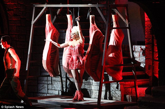 Meat-tastic: Mother Monster's stage show had a distinctly carnivorous feel to it
