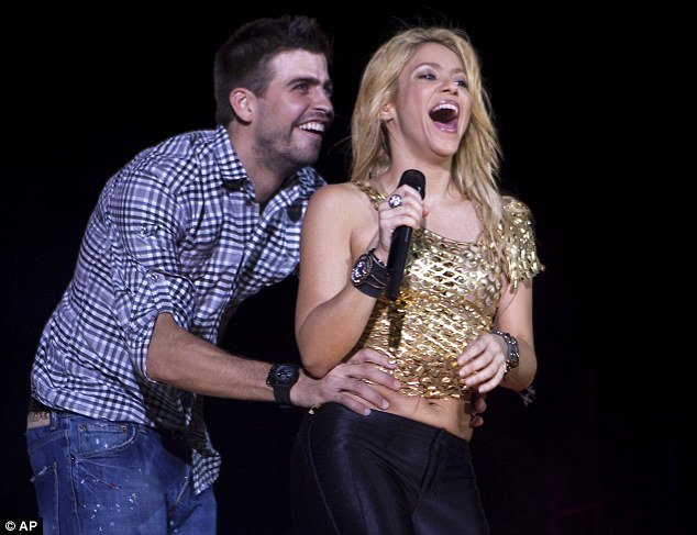 Cute couple: Shakira has been dating Gerard for around two years although she only confirmed their relationship last year