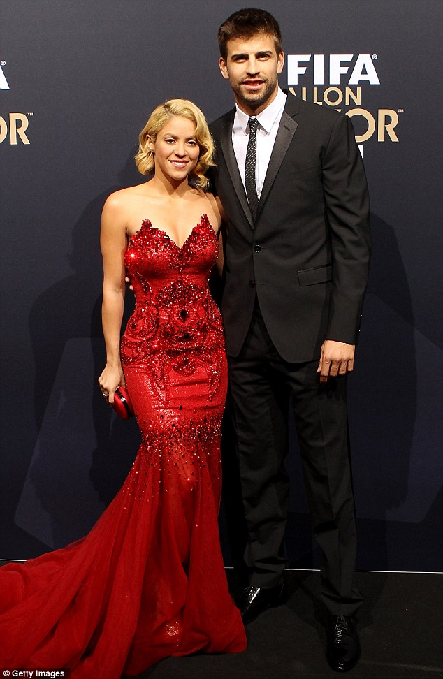 Expecting: Colombian singer Shakira announced that she is expecting her first child with Spanish footballer Gerard Pique, on Wednesday