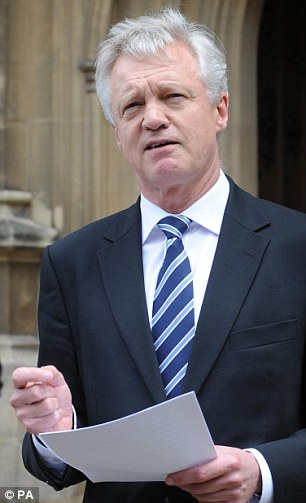Wary: Conservative politician David Davis has voiced concerns over the deal