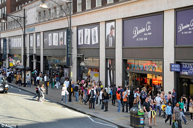 Just down the road: Primark's other Oxford Street store, which opened in 2007 is smaller, covering 70,000 sq ft