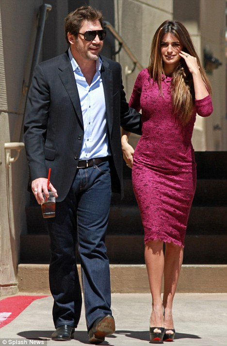 Glamorous couple: Javier and Penelope caught a premiere at El Capitain Theater in Hollywood on April 1, 2011