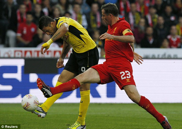 Old guard: Jamie Carragher captained Liverpool against Young Boys