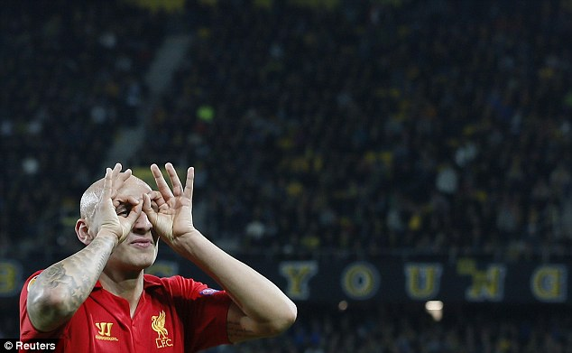 Not bad: Jonjo Shelvey scored two goals as Liverpool beat Young Boys 5-3