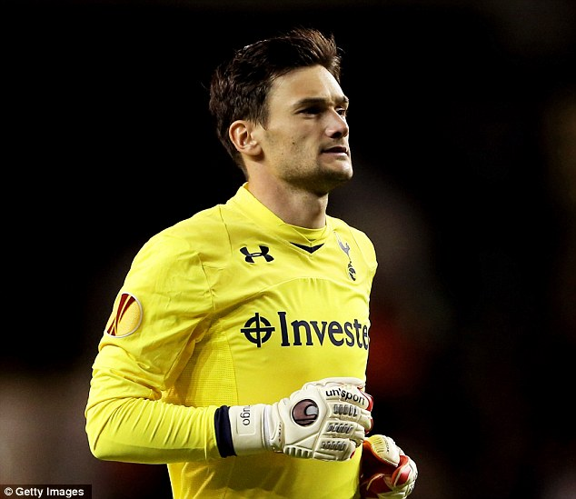 Welcome to the team: Hugo Lloris makes his debut for Tottenham