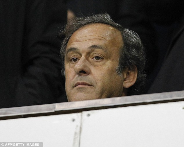 Enjoying yourself? UEFA president Michel Platini watches at White Hart Lane