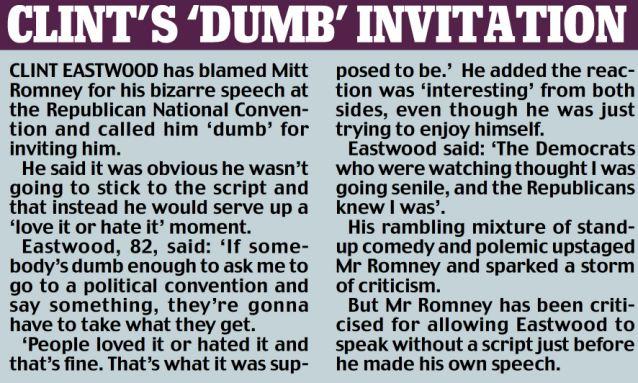 Clint's 'dumb' invitation