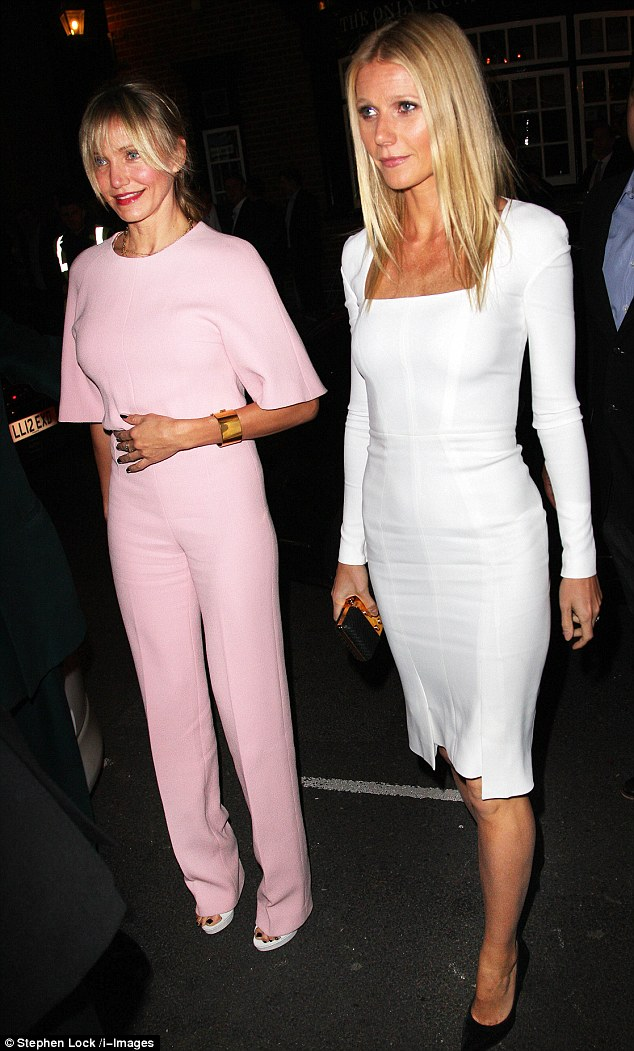 Best of friends: Gwyneth was joined at the event by another Hollywood blonde - Cameron Diaz