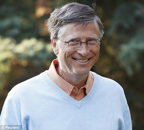 Something to smile about: Gates topped Forbes' annual list of the U.S. Uber-elite for the 19th year in a row with $66 billion, up $7 billion from a year earlier