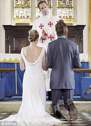 Sea change: Less people are getting married and having children in Britain as people would rather just live together