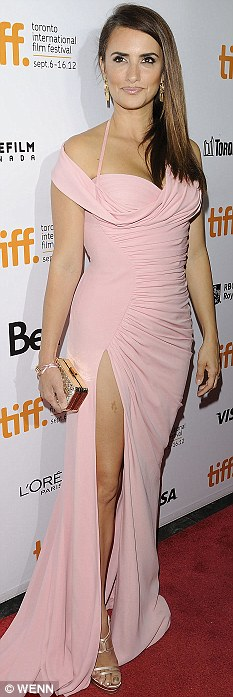 Pretty in pink: Penelope at the Toronto International Film Festival earlier this month