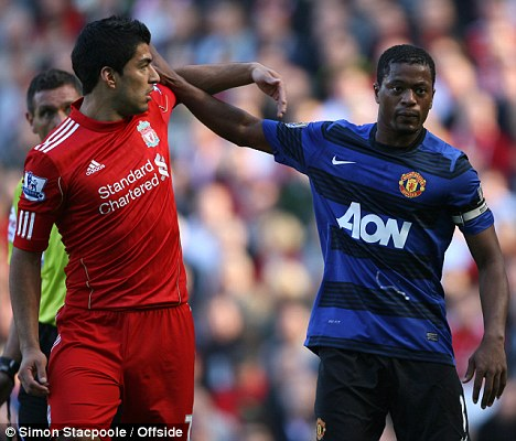 Unsavoury: The Luis Suarez-Patrice Evra controversy threatens to overshadow another Liverpool vs Manchester United encounter