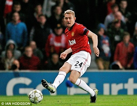 Back from injury: Darren Fletcher played 11 minutes against Galatasaray in midweek but will not play at Anfield