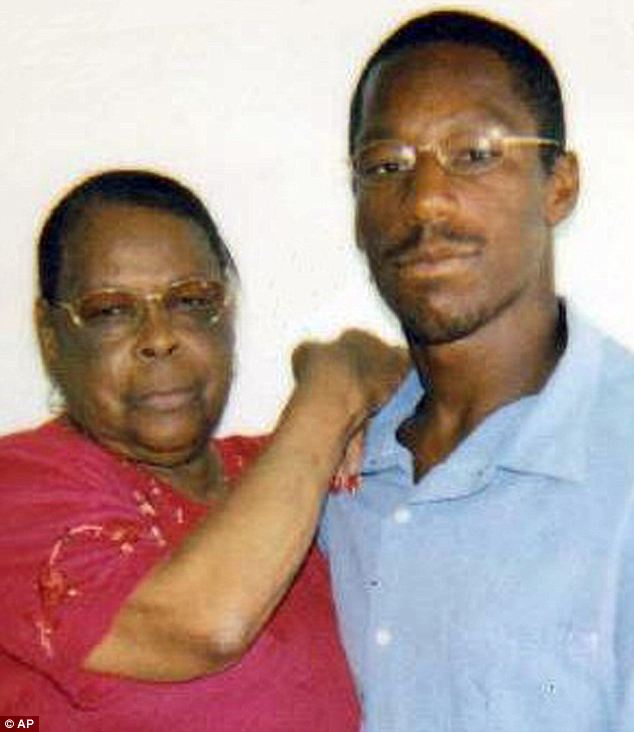 Not guilty: Smith (right) maintained his innocence, saying he was with his grandmother, Laura Neal (left) at the time of the shooting