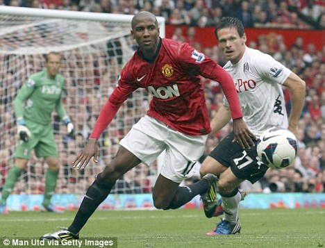 Injury blow: Ashley Young will be sidelined until the middle of October with bruised cartilage