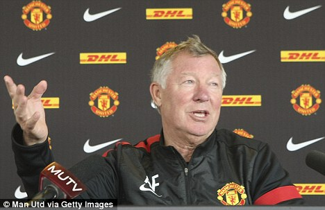 Fewer options: Sir Alex Ferguson heads to Anfield without two attacking players in Rooney and Young