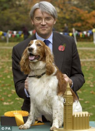 Attack dog: At least Andrew Mitchell's dog Molly was praised for her temperament