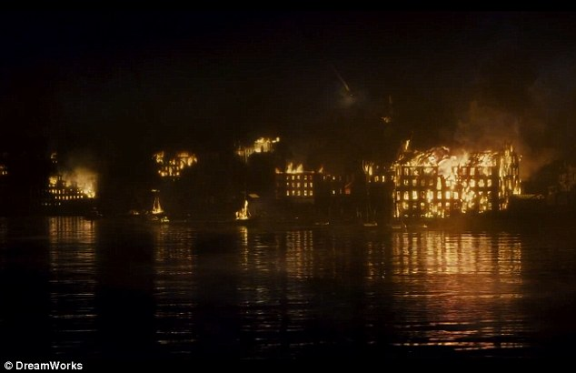 US in flames: The movie depicts a troubling time in American history with Abraham Lincoln at the helm of the resolution