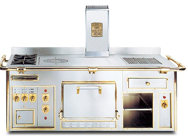Opulence: The gold-plated stove which is as good as the units used by celebrity chefs. Electrolux hope to find 50,000 buyers for their range