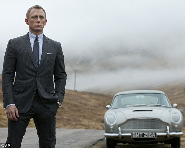 The name's Bond: Current 007 Daniel Craig in a shot from the upcoming 23rd spy movie Skyfall