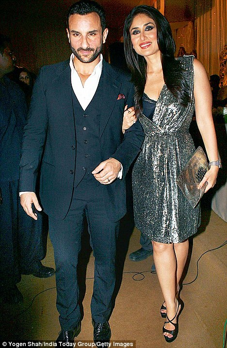 Kareena with Saif Ali Khan. She has kept quiet about a wedding