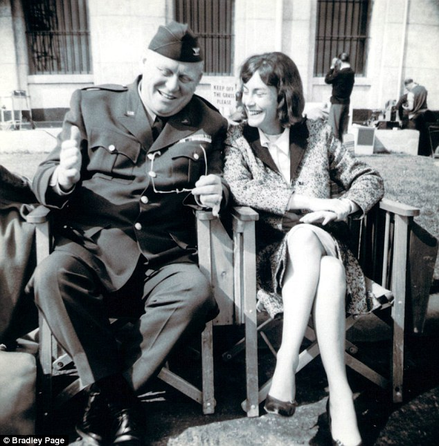 Back in the day: Nikki van der Zyl on the set with Goldfinger actor Gert Frobe