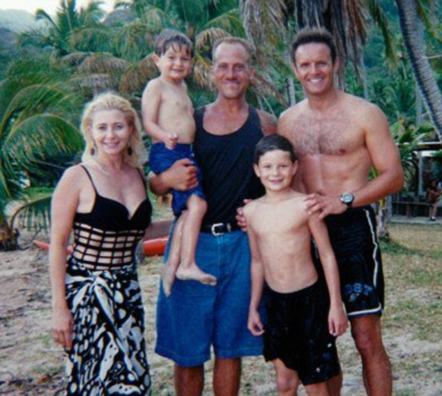 On the Survivor set: Dianne (left) and Burnett (right) have two sons together, James, 18, and Cameron, 15