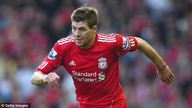 Big responsibility: Steven Gerrard will lead his Liverpool team out against Manchester United