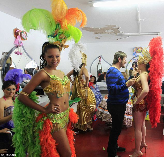 Latina ladies: Inmates at El Buen Pastor prison in Bogota, Colombia, take part in an annual beauty contest