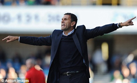 Flying high: Gus Poyet's Brighton have won five on the spin