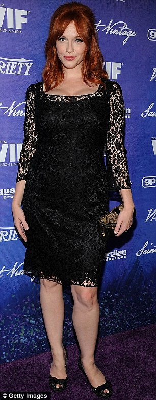 Switching roles: Actresses Jennie Garth and Christina Hendricks at the Variety And Women In Film Pre-Emmy event