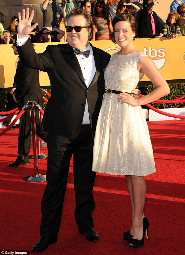 Former life: Eric Stonestreet and ex flame Katherine Tokarz arrive at the Screen Actors Guild Awards in January