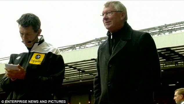 I enjoyed that... Ferguson affords himself a smile after his row with Shelvey