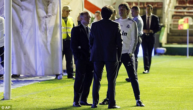 Waiting game: Real Madrid's match with Rayo was abandoned due to alleged sabotage
