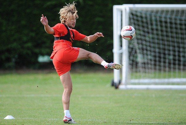 Barnet away: Alan Smith is relishing life in the lower leagues with MK Dons