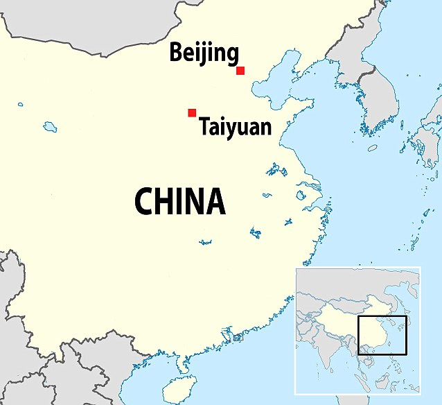 The incident happened in the city of Taiyuan in the north of China, situated to the south-west of Beijing